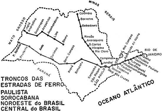 novo mil u00eanio  mapas de santos  estradas de ferro paulistas